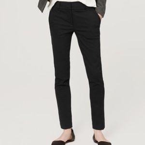 LOFT Marisa Black Skinny Ankle Pants Size 2
